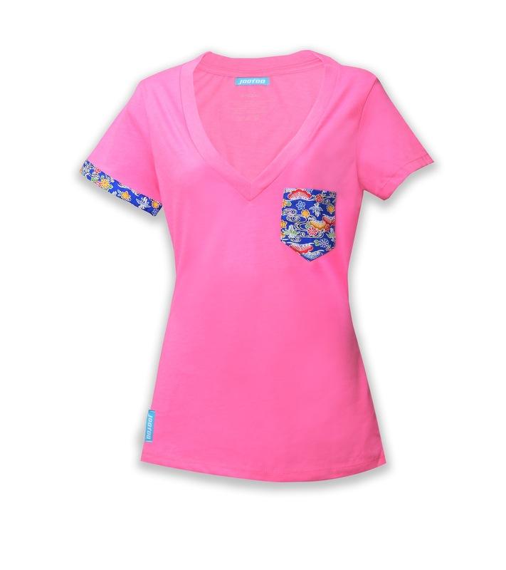 womens pink v shirt jootoo clothing company